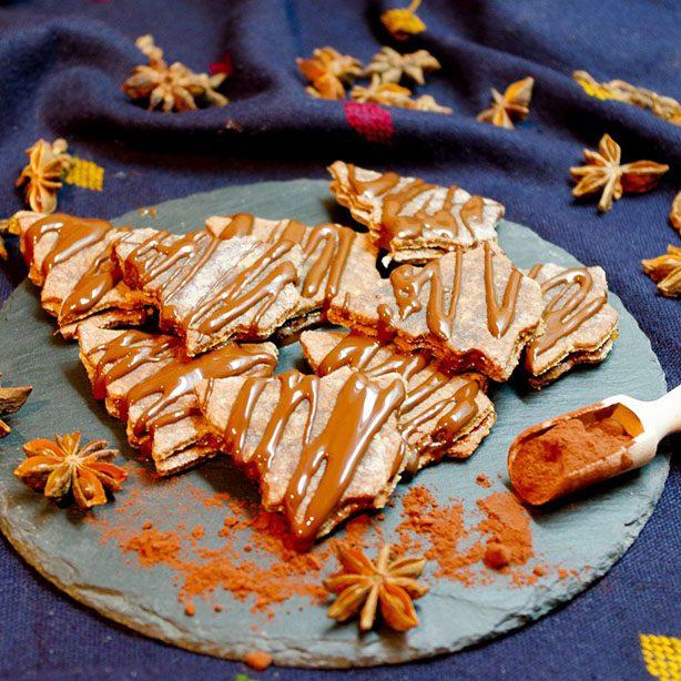 Nussige Schoko-Aprikosen-Bäumchen