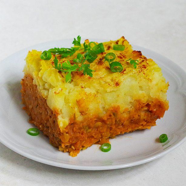 Shepherd's Pie mit Linsen
