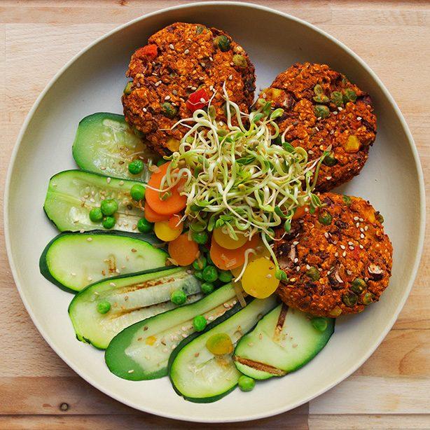 Bohnen-Gemüse-Patties