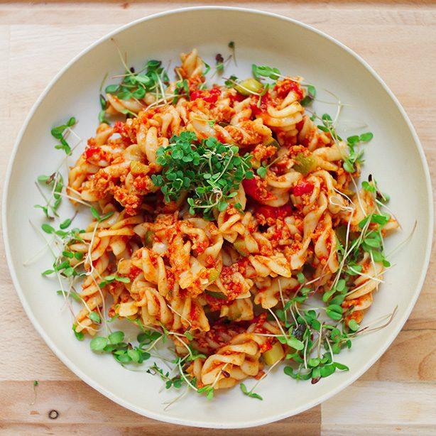 Proteinreiche One-Pot-Pasta